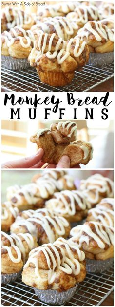 If you like Monkey Bread, then you'll love these Monkey Bread Muffins! They have all the flavors of monkey bread and more (hello- icing!) and they're done in just 30 minutes Brunch Recipes, Breakfast Recipes, Dessert Recipes, Brunch Ideas, Monkey Bread Muffins, Monkey Bread Cupcakes, Muffin Tin Recipes, Baking Recipes, Nutella