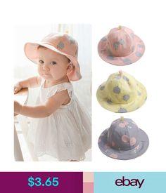 8e8fcc53092 Accessories Baby Infant Kids Girls Cotton Hat Cap Summer Sun Beach Cute Polka  Dot Hats Comfy  ebay  Home   Garden