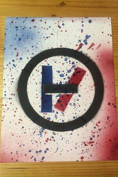 Twenty one pilots spray paint  poster by Andystencils on Etsy