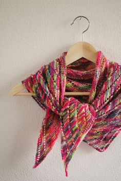new kerchief - worked in Manos del Uruguay Alegria handpainted yarn