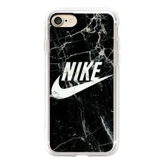 BLACK AND WHITE MARBLE NIKE - iPhone 7 Case, iPhone 7 Plus Case,... ($40) ❤ liked on Polyvore featuring accessories, tech accessories, iphone case, apple iphone cases, iphone cover case, black and white iphone case, iphone cases and iphone hard case