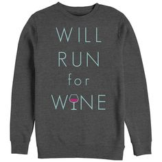 Chin Up - Vino Time - Womens Pullover Adult Crewneck Sweatshirt