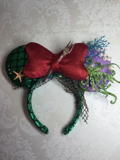 Disney's Ariel Themed Mickey/Minnie Ears by MagicalWorldofBling on Etsy
