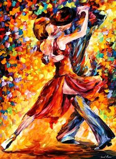 In The Rhythm Of Tango — Palette Knife Dancers Wall Art Oil Painting On Canvas By Leonid Afremov. Size: X Inches cm x 100 cm) Modern Oil Painting, Oil Painting On Canvas, Painting Prints, Canvas Wall Art, Canvas Prints, Art Prints, Painting Art, Tango Art, Dance Paintings