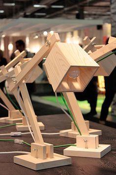 houten bureaulamp