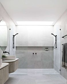 Teal Ave Duplex by Luxbuilt « HomeAdoreYou can find Modern bathroom design and more on our website.Teal Ave Duplex by Luxbuilt « HomeAdore Bathroom Layout, Modern Bathroom Design, Bathroom Interior Design, Bathroom Ideas, Bathroom Organization, Minimal Bathroom, Tile Layout, Bathroom Storage, Bathroom Designs
