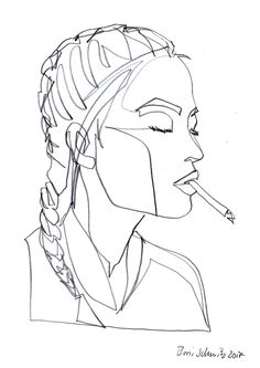 """Gaze 533″, continuous line drawing by Boris Schmitz"