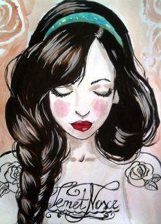 Gosto muito de ilustrações. Você pode imprimir e decorar sua casa. Essas achei no pinterest. http://pinterest.com/jessypunk/art-prints-and...