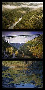 Photograph - American River Triptych by Sherri Meyer