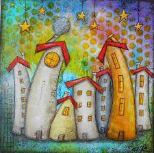 Risultati immagini per peinture coloree maison naive
