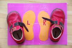 Awesome idea to help children put their shoes on #Montessori style