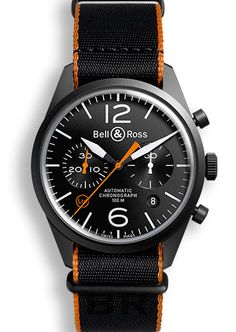 Bell & Ross BR126 Carbon Orange - Luxury Of Watches