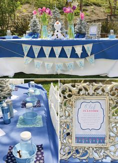{Sparkly, Snowy & Fantastic!} Frozen Birthday Party: Olaf Takes centerstage table