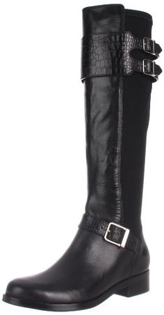 Cole Haan Tennley Buckle Knee High Boot -a fall / winter essential for many women with slim calves. Boots For Skinny Calves, Slim Calves, Long Boots, Knee High Boots, Black Boots, Cute Boots For Women, Boots Women, Buckle Boots, Shoe Boots