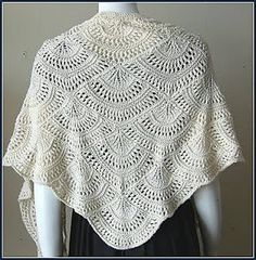 Receita de Tricô: Xale de trico - receita