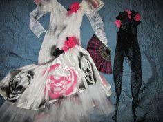 Day of the Dead corpse bride Costume dress womens size 6 unique Halloween costume Dia de los Muertos  sugar skull dead Senorita unique by…
