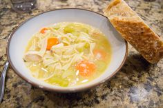 One Meal Now, One Meal Later: Slow Cooker Chicken Noodle Soup