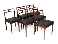 Set of 6 Dining Chairs by Johannes Anderson for Christian Linneberg Denmark 1961