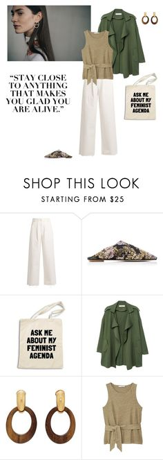 """""""11/03"""" by dorey on Polyvore featuring Raey, MANGO, Goossens, natural, SpringStyle, spring2018 and minimaliam"""