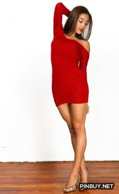 Sexy Boat Neck Mini Sweater Dress by KD dance New York Sophisticated & Elegant, Dinner To Dance Floor In A Flash, 24 Hour Stretch Knit Comfort #MadeInUSA - PinBuy