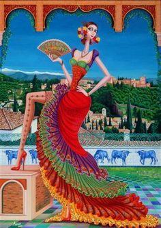 Obra de arte: Carmen de Granada Artistas y arte. Artistas de la tierra