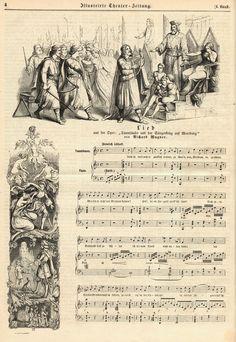 In de 2e acte van Tannhäuser zingt hij een lied in de Wartburg: Auch ich darf mich so glücklig nennen
