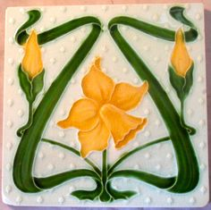 Alfred Meakin Art Nouveau design c1905/6.tile reference 459 in the book Art Nouveau Tiles with Style.