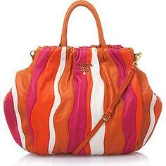 Prada Medium Nappa Stripe Handbag