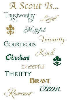 Boy Scout Law To order this piece contact Elizabeth Townsend at morethanwordsdesigner@gmail.com