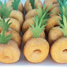 Pineapple donuts  Fun for a luau themed party   Lauren B Montana