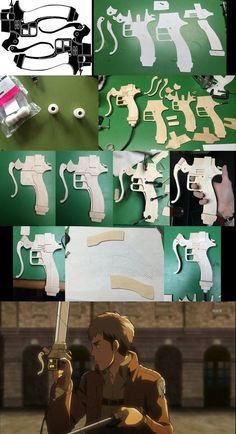 how to make sword of attack on titan/ comment faire son épée de l'attaque des titan :)