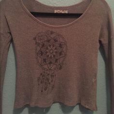Hollister Crop Top Sweater crop top, only worn a couple of times Hollister Tops Crop Tops
