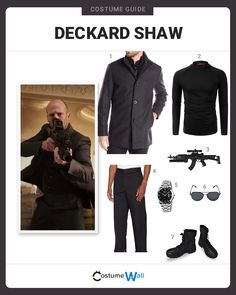 The best costume guide for dressing up like Deckard Shaw, the special forces assassin in the Fast and the Furious seeking revenge on Dominic Toretto. Got Costumes, Marvel Costumes, Fancy Costumes, Miles Morales Spiderman Costume, Suit Fashion, Mens Fashion, Bald Men Style, Dominic Toretto, Superhero Cosplay
