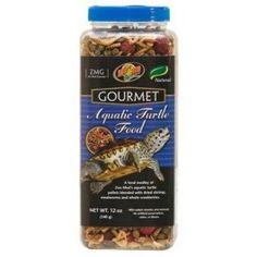 Gourmet food for aquatic turtles.