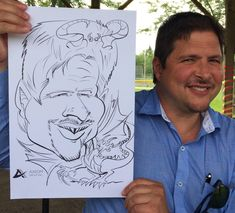 A nice caricature of a guest drawn as a dragon. This was drawn from Tiffany the caricature artist. Caricature Artist, Favours, Tiffany, Dragon, Portrait, Nice, Illustration, Gifts, Presents