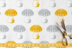 Fabric to reline some of the mushroom props - Bubble Top Truffles by Monica Cheng at minted.com