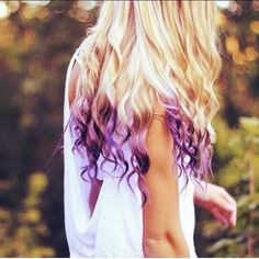 Blonde Hair With Purple Tips | blonde hair # hair styles # fashion # style