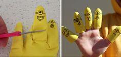 Marioneta de dedos de Minions #manualidades