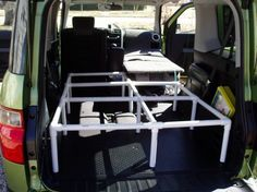 simple pvc bed platform - definitely need to make this for camping!!