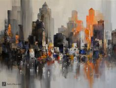 "City Rhythm 54""x 42"" by Wilfred. Art and Frames Gallery, Coronado, CA."