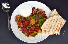 #Mexican #Chorizo Salad Wraps