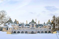 Snow-Covered Architecture Around the World Photos   Architectural Digest - WILLIAM ADAMS DELANO's OHEKA CASTLE, HUNTINGTON, NEW YORK (=)