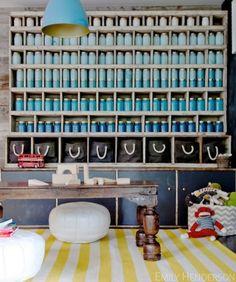 Mason Jar art installation. How-to by Emily Henderson.