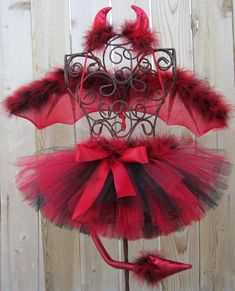 SALE  SHE DEVIL Costume Tutu Set ncludes Tutu by taddletellshop, $38.00