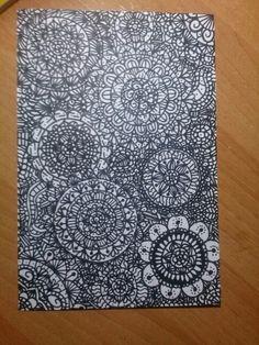 Zentangle art en blanco y negro