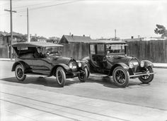 "San Francisco circa 1919. ""Cadillac touring car and sedan."" http://j.mp/1J1MUMf…"
