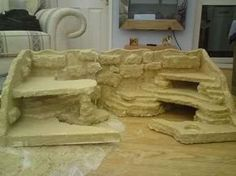 Fake Rock Build for Bearded Dragon (Reptile Forums UK - Care, Pictures, Classifieds and More) Bartagamen Terrarium, Terrarium Reptile, Small Terrarium, Lizard Habitat, Turtle Habitat, Leopard Gecko Habitat, Reptile Habitat, Bearded Dragon Habitat, Bearded Dragon Cage