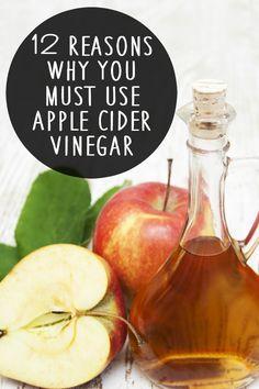 12 Reasons Why You Must Use Apple Cider Vinegar ~ http://healthpositiveinfo.com/must-use-apple-cider-vinegar.html