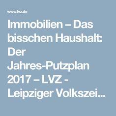 Immobilien – Das bisschen Haushalt: Der Jahres-Putzplan 2017 – LVZ - Leipziger Volkszeitung