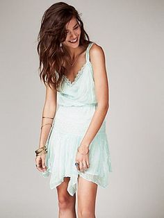 Free People Ode To Tea Shimmer Dress at Free People Clothing Boutique